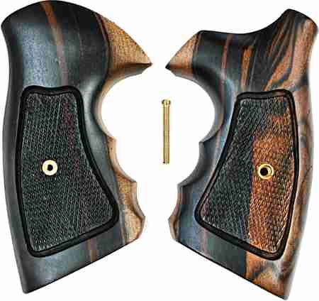 Smith Amp Wesson N Frame Combat Tigerwood Grips Checkered
