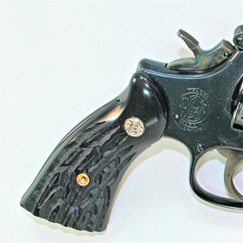Smith & Wesson K Frame Imitation Jigged Buffalo Horn Grips With ...
