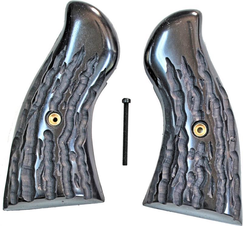 Ruger Redhawk Revolver Imitation Jigged Buffalo Horn Grips