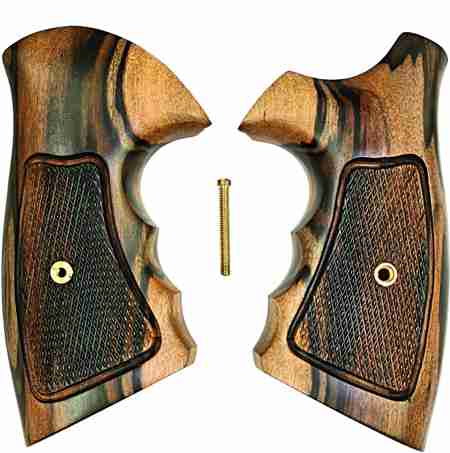 Smith & Wesson K Frame Combat Tigerwood Grips, Checkered