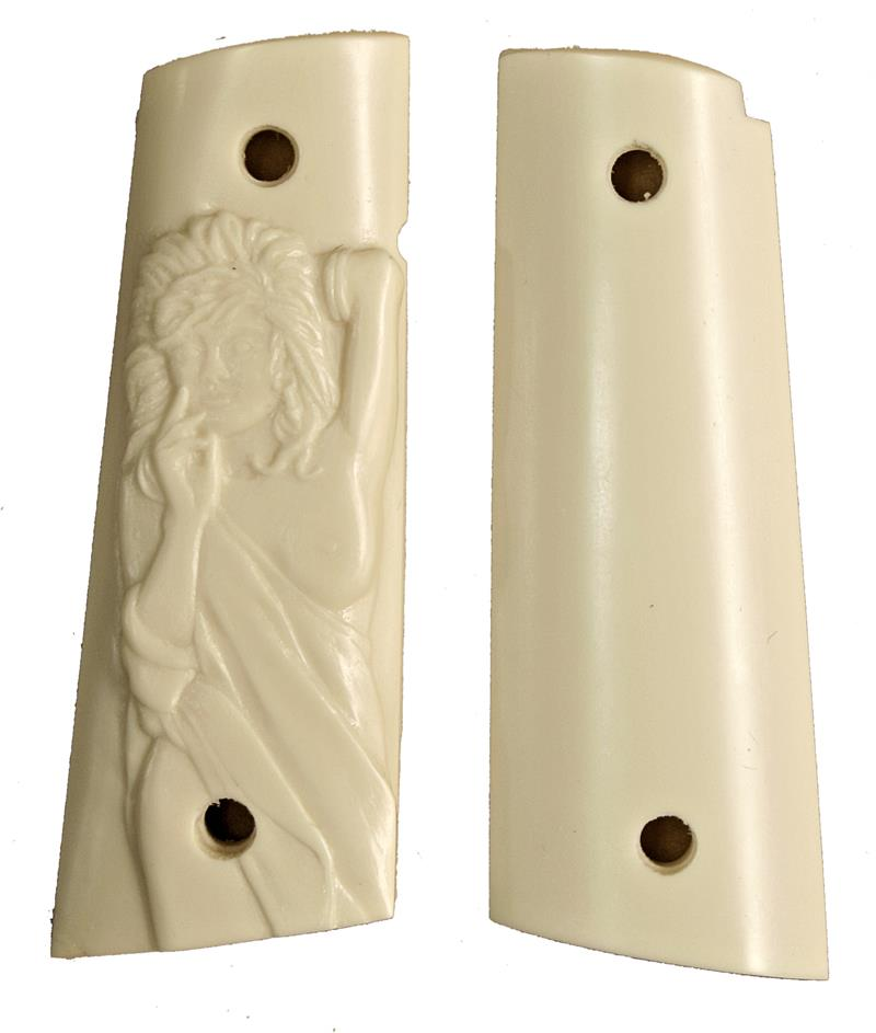 Colt 1911 Ivory-Like Grips, With Semi-Nude
