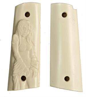 Colt Officers Model 1911 Ultra Imitation Ivory Grips